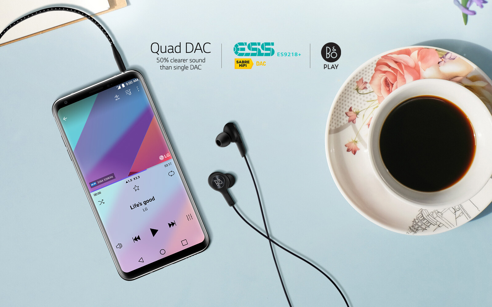 How turn on the LG V30's Hi-Fi Quad DAC, and what does it do
