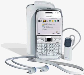 Nokia E72 in white is expected to become available in Malaysia first