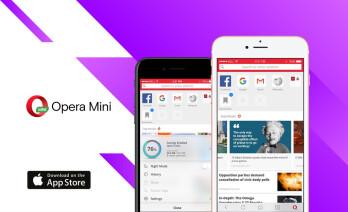 iOS مرورگر اپل آیفون آیفون8 اوپرا opera