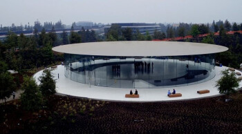 The Steve Jobs Theater where Apple will introduce the new 2017 iPhone handsets, including the tenth anniversary model, on September 12th