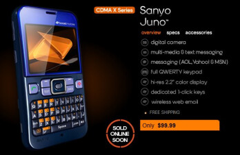 Sanyo Juno coming soon to Boost Mobile