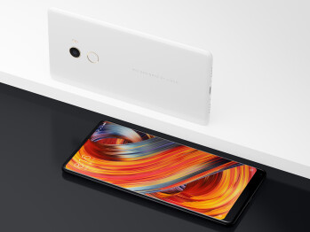 The Xiaomi Mi MIX 2 Special Edition — note the singular ceramic shell