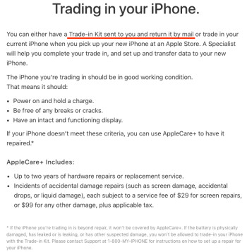 Apple will let you trade in your old iPhone for an iPhone X or iPhone 8 by mail