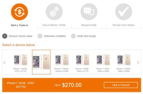 T-Mobile, AT&T or Verizon Trade-in Programs ($270)