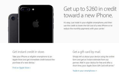 Apple trade-up ($375)
