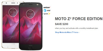 Deal: Save $200 on a Motorola Moto Z2 Force (AT&T, Verizon, Sprint)