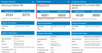 iPhone X beats Macbook Pro in benchmarks
