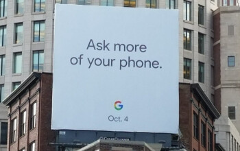 Google billboard in Boston reveals that the Pixel 2 and Pixel XL 2 will be unveiled on October 4th