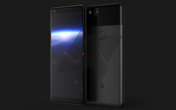 Android Police's unofficial render of the Pixel XL 2, which is allegedly based on real-life photos