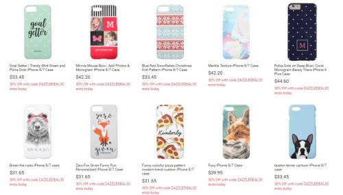 Custom Zazzle cases ($30-$50)