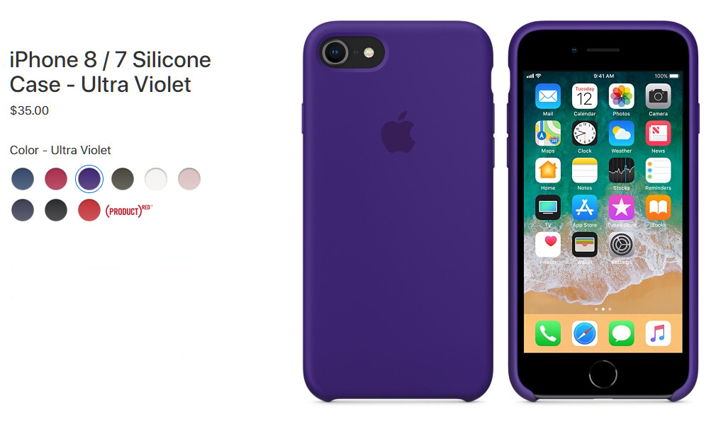Apple iPhone 8 Silicone Case ($35)