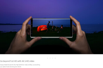 The Galaxy Note 8 also has 4K at 60 FPS video recording coming... soon