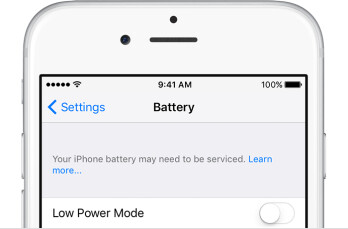 PSA: iOS now tells you when your iPhone's battery needs replacement