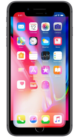 iPhone X display overlaid on top of an iPhone 8 Plus - Apple to keep premium iPhone X pricing in 2018, Face ID is 2 years ahead of competition