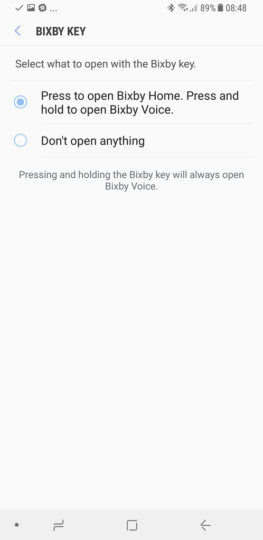 The dedicated Bixby button can now be disabled