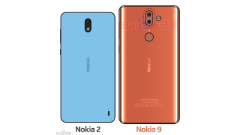 Mock-up image portraying the Nokia 2 and Nokia 9