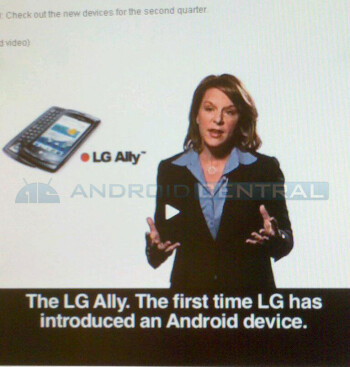 The LG Aloha is now said to be called the LG Ally for Verizon