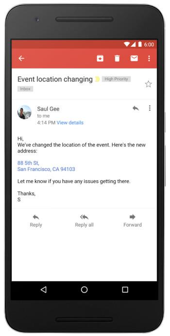 Google macht Telefonnummern, Kontakte und Adressen in Gmail und Posteingang in anklickbare Links