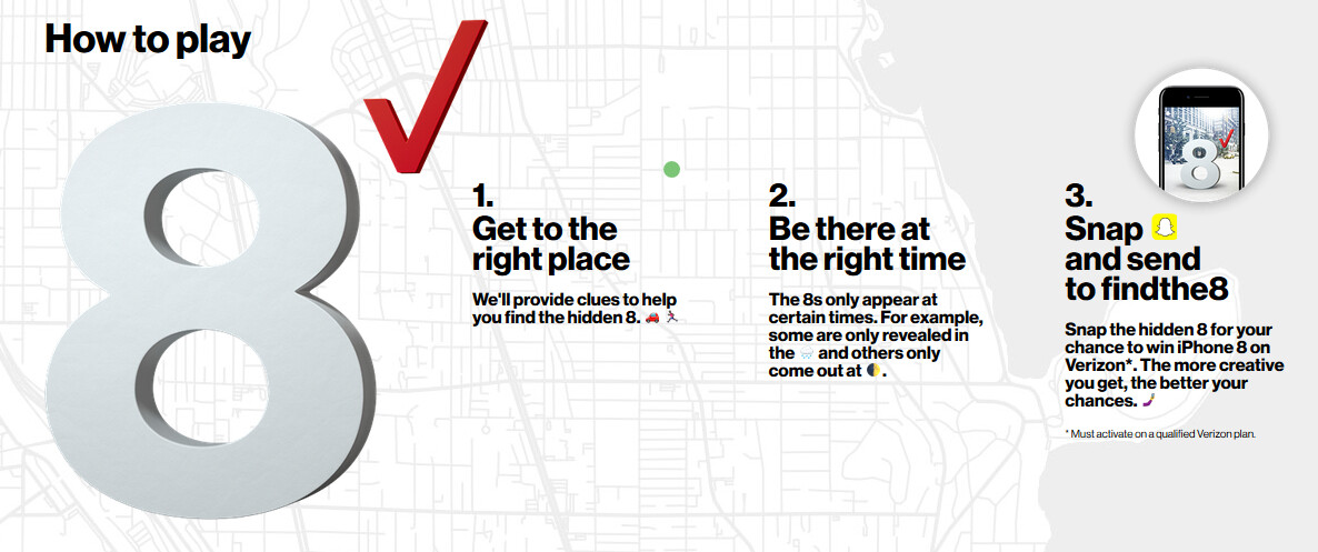 Play Verizon's 'Find the 8' scavenger hunt game and win one of 256 ...