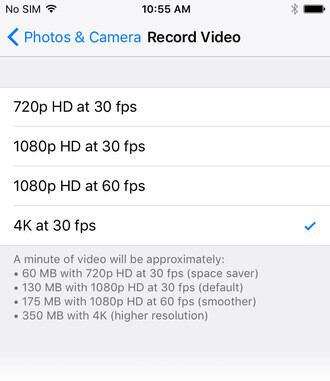 Here's how much space Apple's new HEVC video format saves on an iPhone 8
