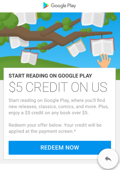 Some Android users are receiving a $5 credit from Google for the