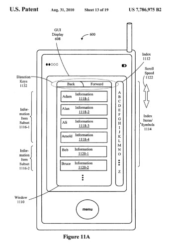 Apple's original 'accelerated scrolling' patent
