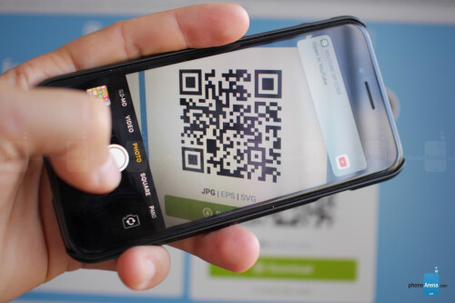 Scan a QR code directly with the camera app
