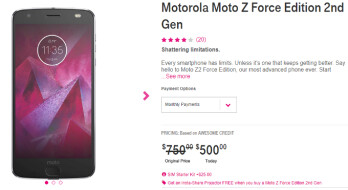 Deal: T-Mobile Motorola Moto Z2 Force now costs $500 (that's $250 off)