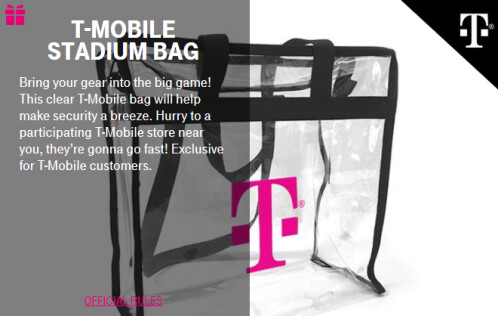 Giveaways and contest prizes for this coming week's T-Mobile Tuesday