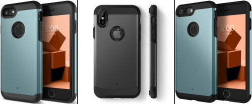 Caseology heavy duty iPhone 8 and iPhone X cases