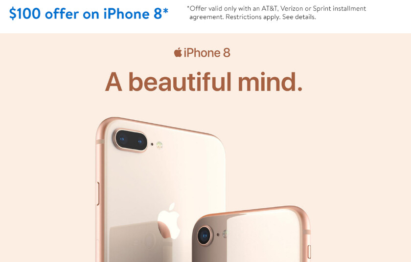 iphone deals at t deal iphone 8 and 8 plus are 100 at walmart with 11788