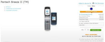 AT&T is now selling the Pantech Breeze II for $20