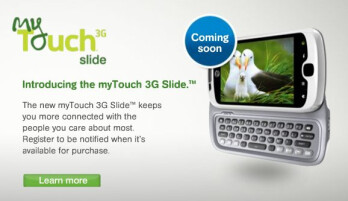 T-Mobile myTouch 3G Slide is officially announced & expected to launch in June