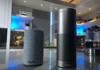 The revised Amazon Echo at left, and the Amazon Echo Plus at right can both be pre-ordered starting today