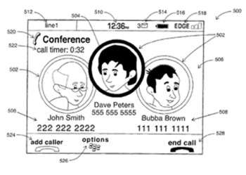 RIM re-files patent for conference call UI