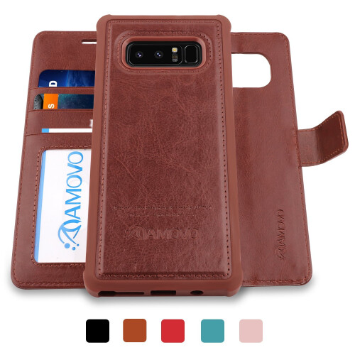 Amovo 2 in 1 wallet case for Galaxy Note 8