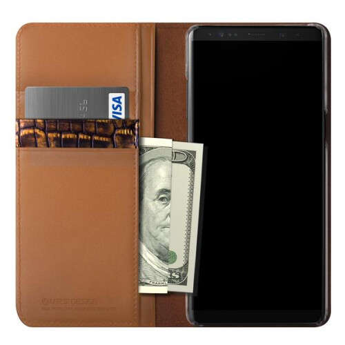 VRS Genuine Leather Diary case for Galaxy Note 8