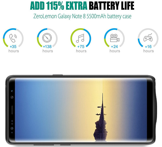 best sneakers 1c54a e3f9c Note 8 gets a ZeroLemon case that doubles its battery life - PhoneArena