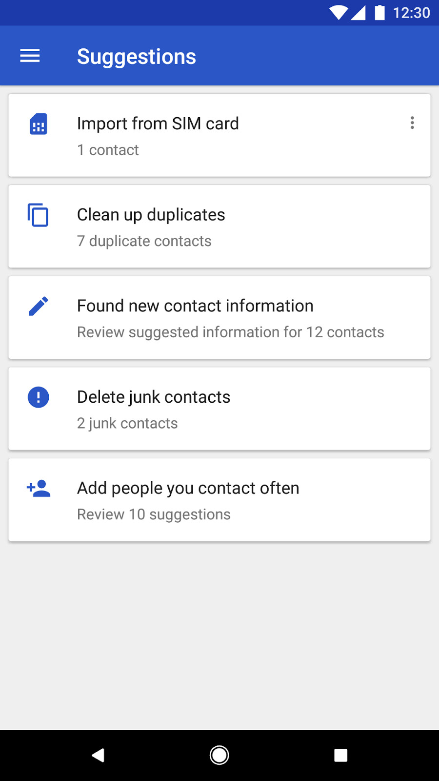 android how to send lots of contacts