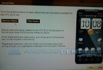 Sprint is currently figuring out new plan offerings for the HTC EVO 4G?