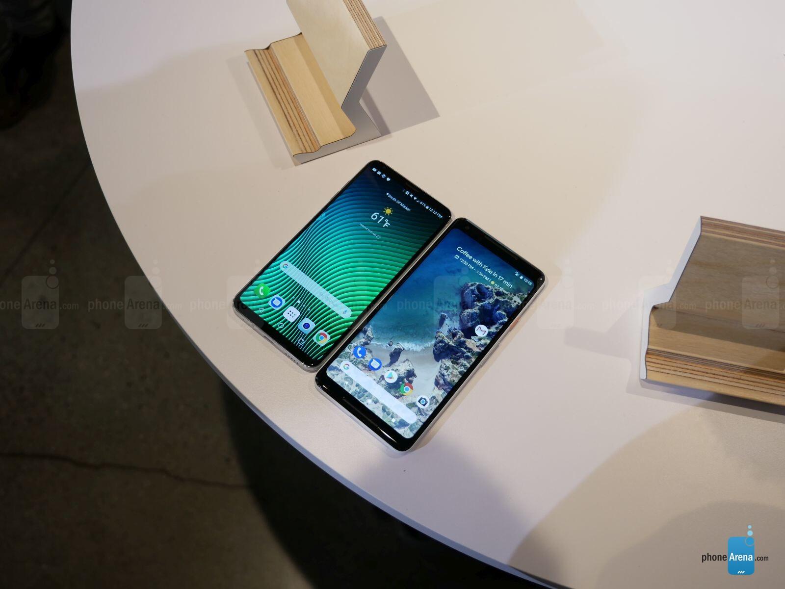 Google Pixel 2 XL vs LG V30: first look | PhoneArena reviews
