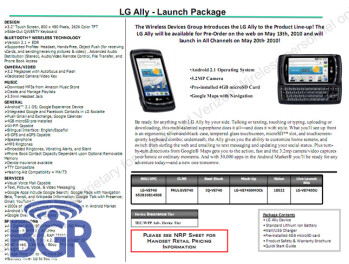 LG Ally kicks off pre-orders on May 13 with a full launch expected on May 20?