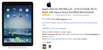 Deal: Save more than $100 (30 ) when you buy the iPad Air (refurbished) at Amazon
