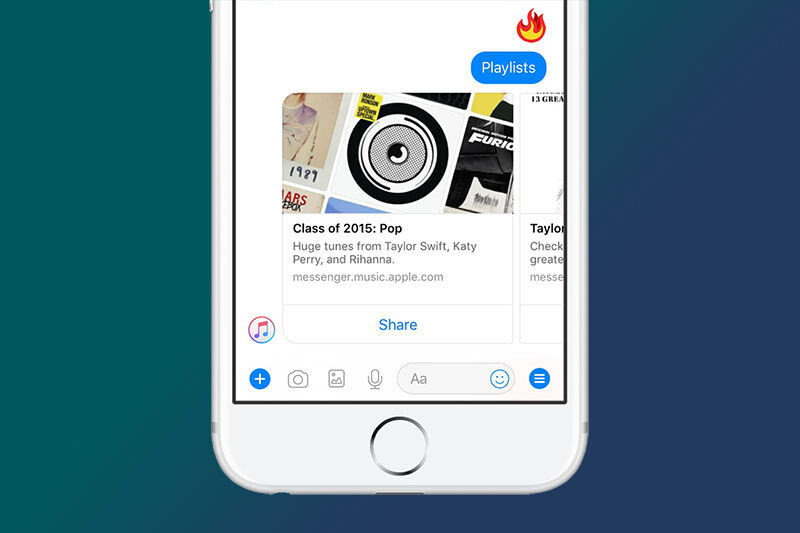 Apple Music launches on Facebook Messenger with new bot