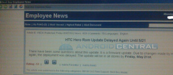 Android 2.1 update for Sprint's HTC Hero delayed until May 21?