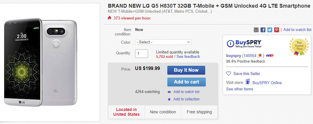T-Mobile LG G5 on sale for less than $200 - PhoneArena