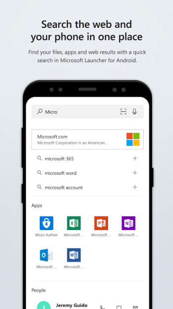 Microsoft Launcher (a.k.a Arrow Launcher)