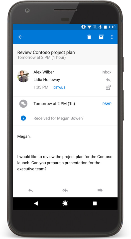 Delegate in Android - Microsoft announces big Outlook update for Android and iOS