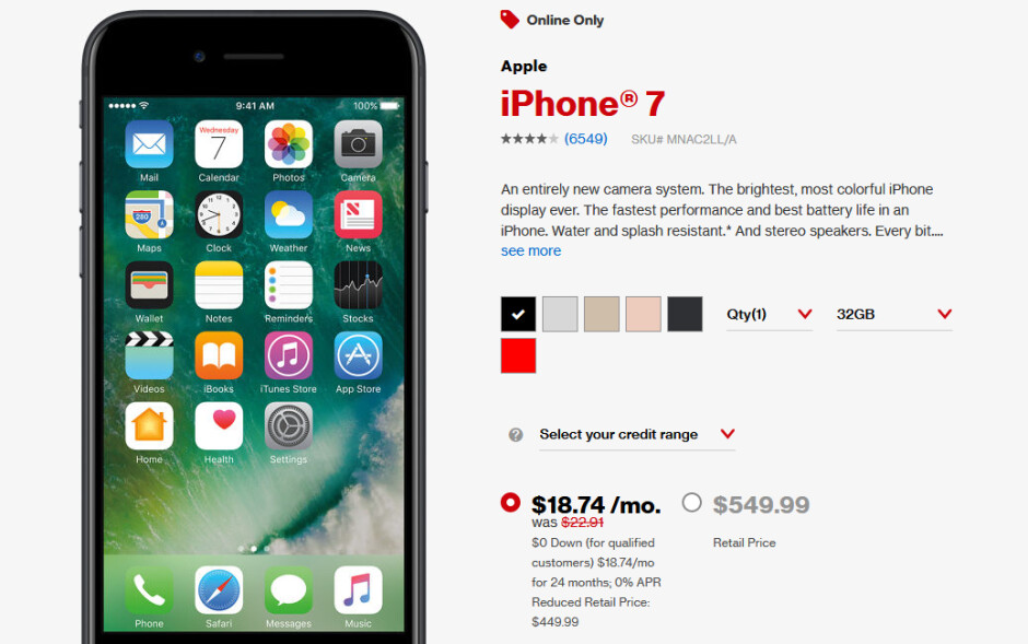 Deal Get An Iphone 7 For Just 449 From Verizon Limited Time Offer Phonearena