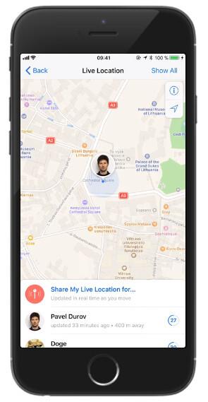 Telegramm-Update fügt neuen Mediaplayer, Live-Standorte und mehr Sprachen hinzu